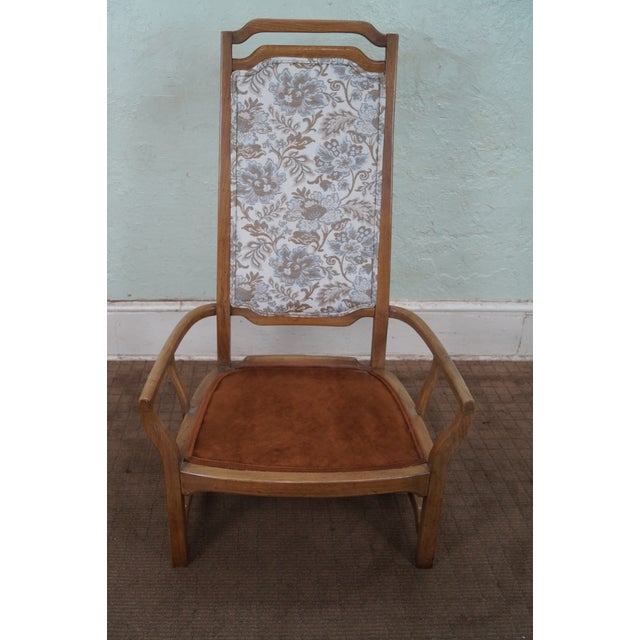 Mid Century Modern Walnut Upholstered Arm Chair - Image 4 of 10