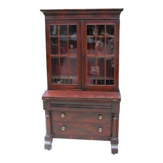Empire Secretary Bookcase For Sale