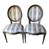 Image of Vintage Louis XVI Side Chairs - a Pair For Sale