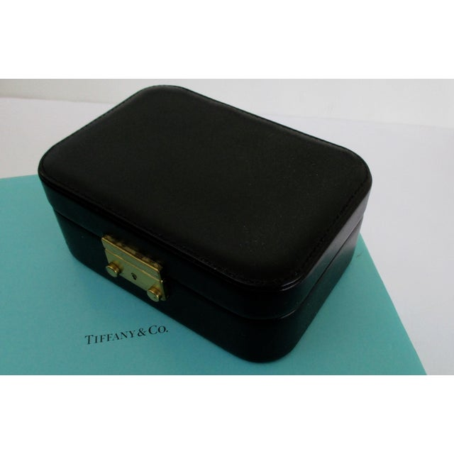 0435f541e Tiffany & Co. Black Leather Jewelry Box Case For Sale - Image 10 of 10