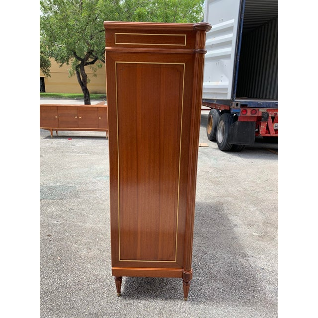 Metal 1910s French Louis XVI Antique Mahogany Armoire For Sale - Image 7 of 13