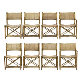 McGuire Bamboo and Caned Dining Chairs- Set of 8 For Sale