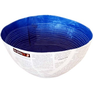 South African Large Bowl with Stitch For Sale