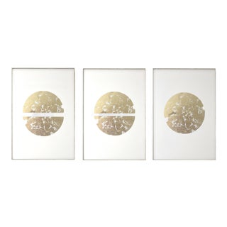 Gilded Circle Triptych No. 2 - 24 36