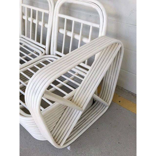 Mid-Century Modern Two Rattan Sofa Frames by Paul Frankl, in Dove White For Sale - Image 3 of 13