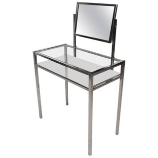 Mid-Century Modern Two-Tier Chrome Vanity For Sale