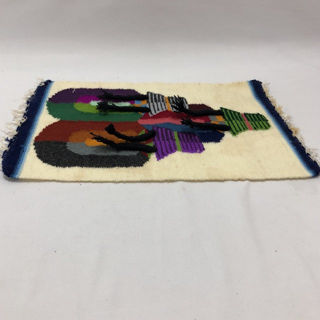 Traditional Vintage South American Handwoven Wall Hanging For Sale - Image 3 of 5