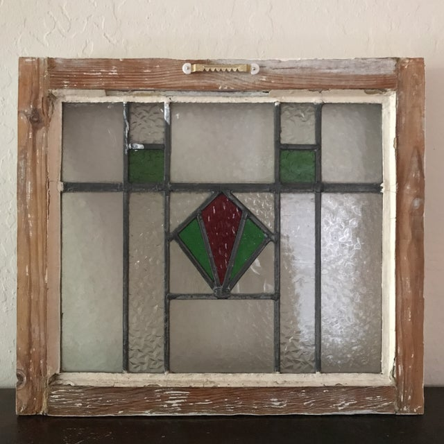 Antique Cottage Stained Glass Window - Image 9 of 9