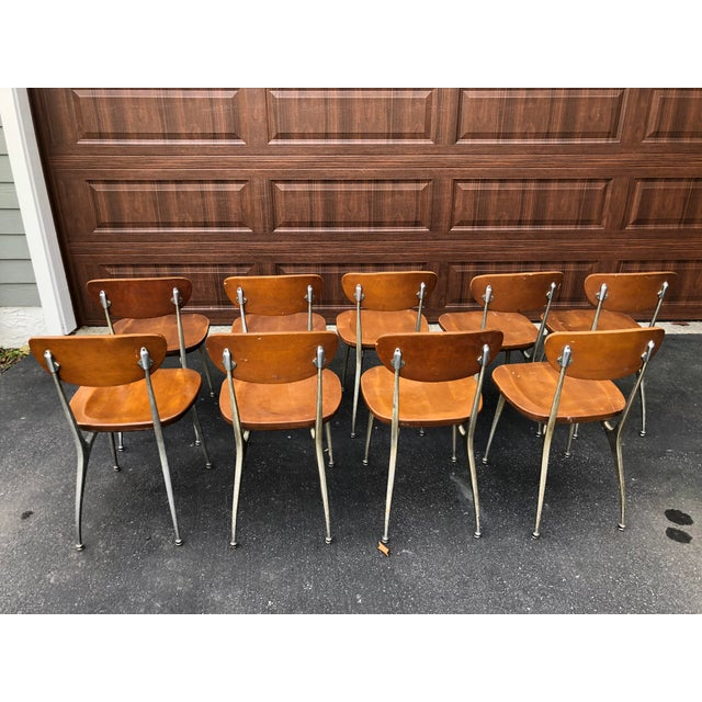 1950s Vintage Shelby Williams Gazelle Chairs - Set of 9 For Sale In Philadelphia - Image 6 of 12