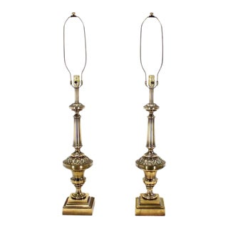 Pair of Brass Stiffel Table Lamps For Sale
