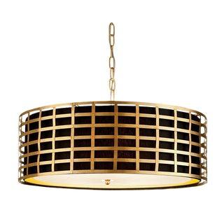 Florentine Antique Gold Leaf Pendant Light For Sale