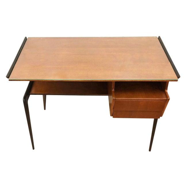 Glass Italian Mid-Century Desk in the Manner of Silvio Cavatorta For Sale - Image 7 of 8