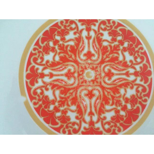 1970's Royal Doulton Orange Flower Dinner Plates S/9 - Image 8 of 9