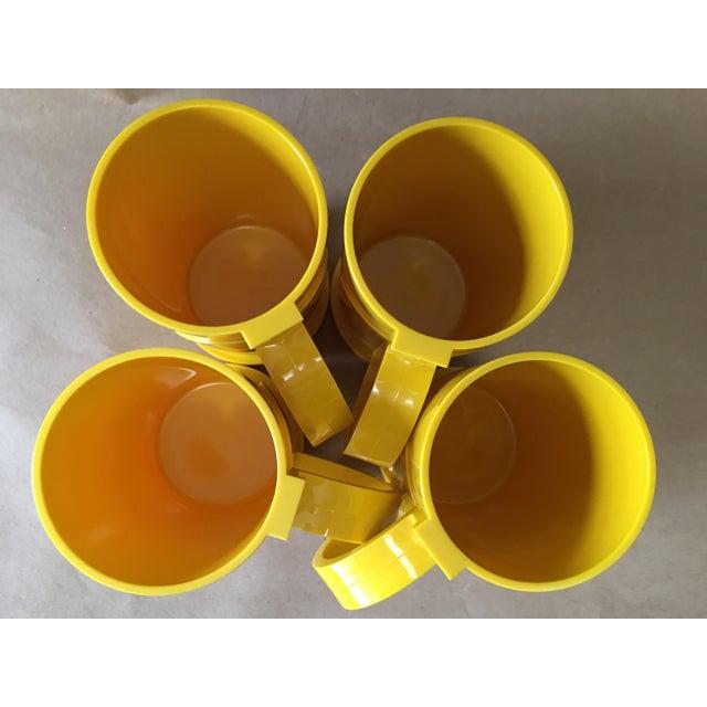 Dansk Designs Vintage Dansk Designs Gunnar Cyren Yellow Handle Mugs - Set of 4 For Sale - Image 4 of 8