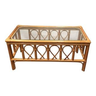 Glass Top Bamboo Coffee Table