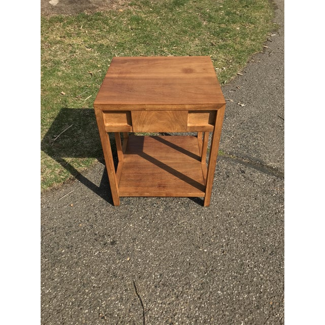 Wood Mid Century Walnut Side Table by Widdicomb For Sale - Image 7 of 8