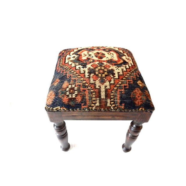 Tribal Qashqa'i Fragment Stool - Image 3 of 7