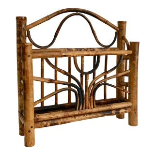 English Tortoiseshell Bamboo Letter Rack For Sale