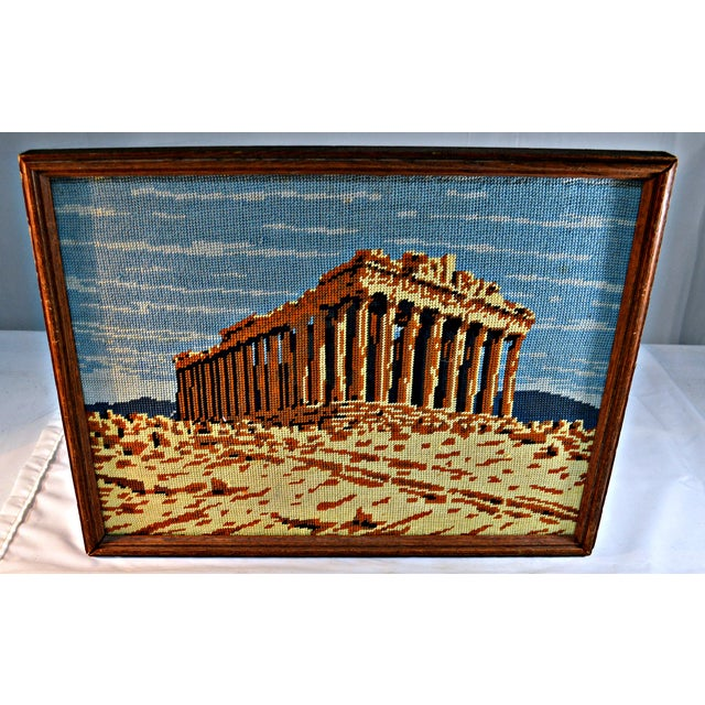 Antique Greek Parthenon Needlepoint For Sale - Image 5 of 5