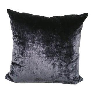 Colefax & Fowler Navy Velvet Toss Pillow For Sale