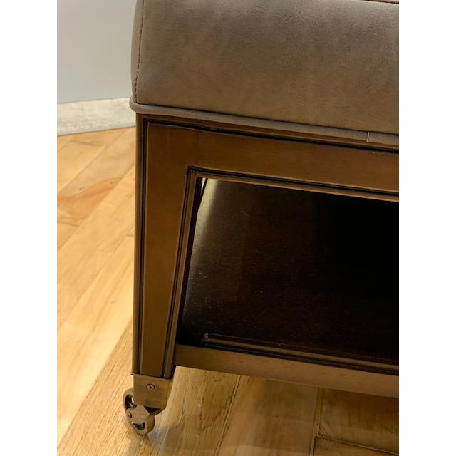 Transitional Tucker Ottoman From Vanguard Furniture For Sale - Image 3 of 6