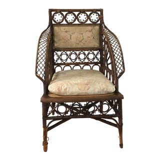 Victorian Wicker Side Chair For Sale