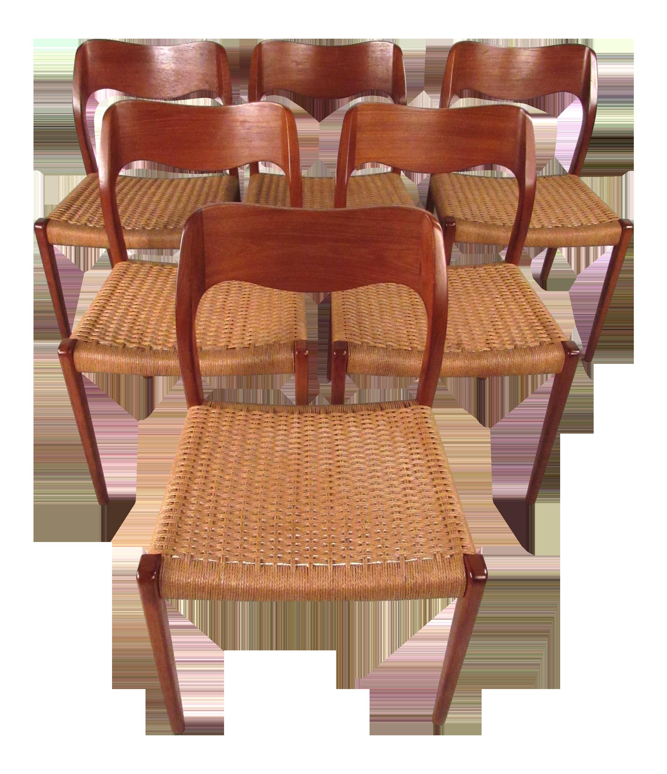 Niels Moller Danish Teak Dining Chairs   Set Of 6