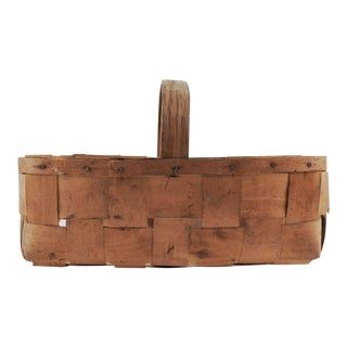 Vintage Woven Veneer Basket