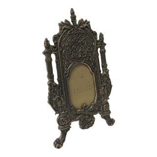 Vintage Pewter Picture Frame in Shape of a Cheval Floor Mirror For Sale