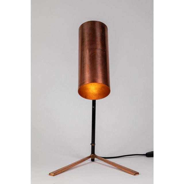 Stilux 1950s Stilux Copper and Metal Table Lamp For Sale - Image 4 of 13
