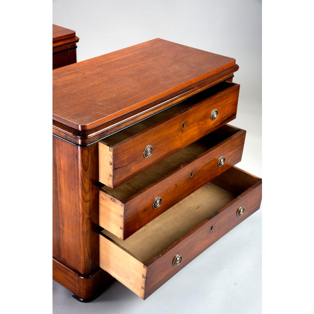 Pair Mahogany Chests With Black Detailing For Sale - Image 4 of 11