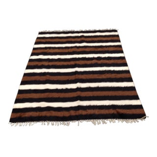 "Vintage Woven Mohair Rug - 53"" x 79"" For Sale"