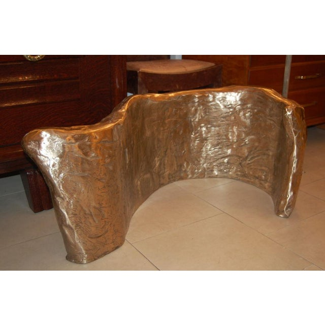 1920s Customizable Bronze & Glass Coffee Table designed by Craig Van Den Brulle For Sale - Image 5 of 7