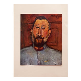 1958 A. Modigliani, First English Edition Lithograph After Portrait of Dr. Devaraigne For Sale