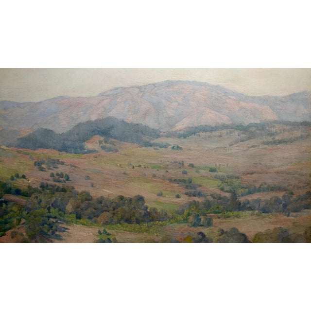 Charles Fries -The Land of the Oaks-California Plein Air Oil Painting c1918 For Sale - Image 4 of 12