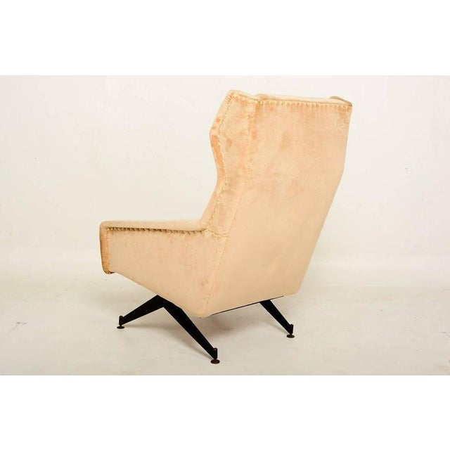 1950s Pair of Sculptural Italian Armchairs For Sale - Image 5 of 10
