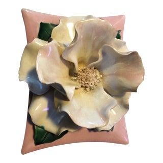 Vintage Pink Vanity Flower Jewel Box
