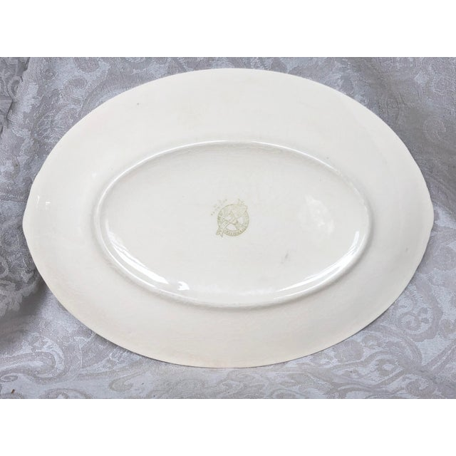 Paden City Pottery Southwestern Mexico Transferware Design Platter For Sale - Image 4 of 13