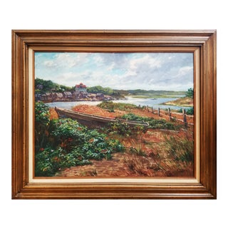 """Morning at Menemsha"" Foster Caddell Landscape Painting"