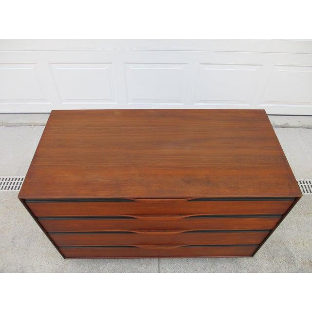John Kapel John Kapel for Glenn of California Walnut Armoire or Dresser For Sale - Image 4 of 13