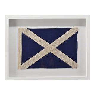 """Framed Beach House Decor """"M"""" Signal Flag For Sale"""