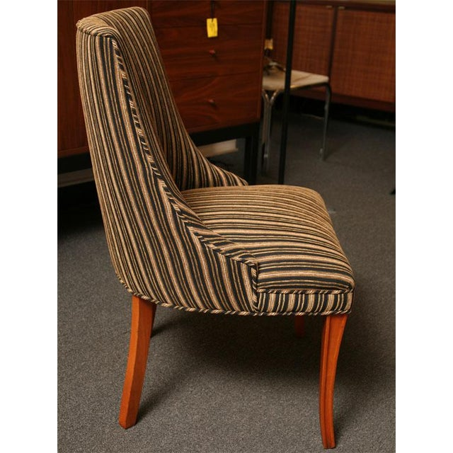 Sleek Tailored 40's Slipper Side Chairs - Image 4 of 10