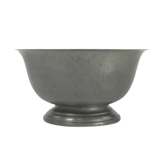Vintage Poole Silver Co. Pewter Paul Revere Style Bowl For Sale