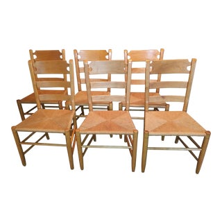 Ethan Allen Farmhouse Pine Collection Dining Chairs - Set of 6 For Sale