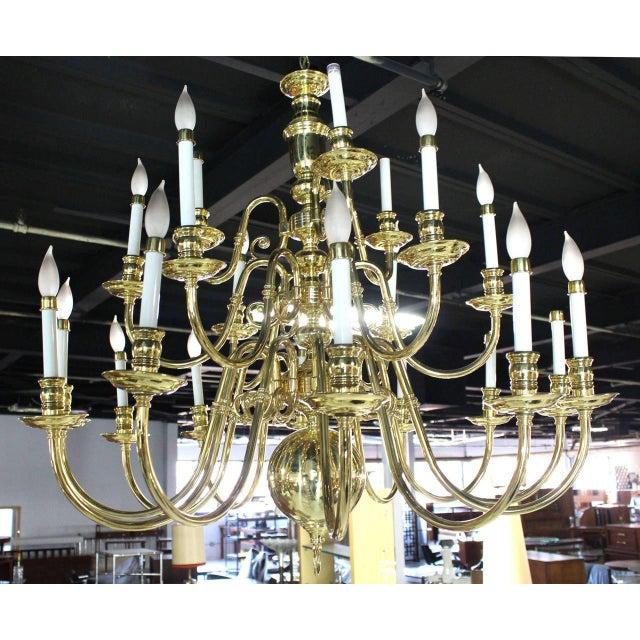 Vintage Brass Candelabra Chandelier For Sale - Image 10 of 10