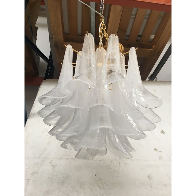 """Mazzega Style """"Petali"""" Selle Murano Glass Chandelier For Sale - Image 6 of 10"""