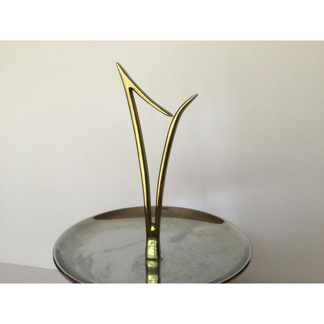 Gold 1960s Space Age Brass Serving Trays - Set of 2 For Sale - Image 8 of 13