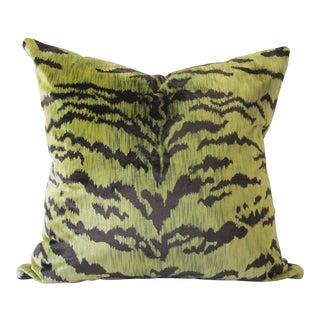 Le Tigre Green Velvet Pillow For Sale