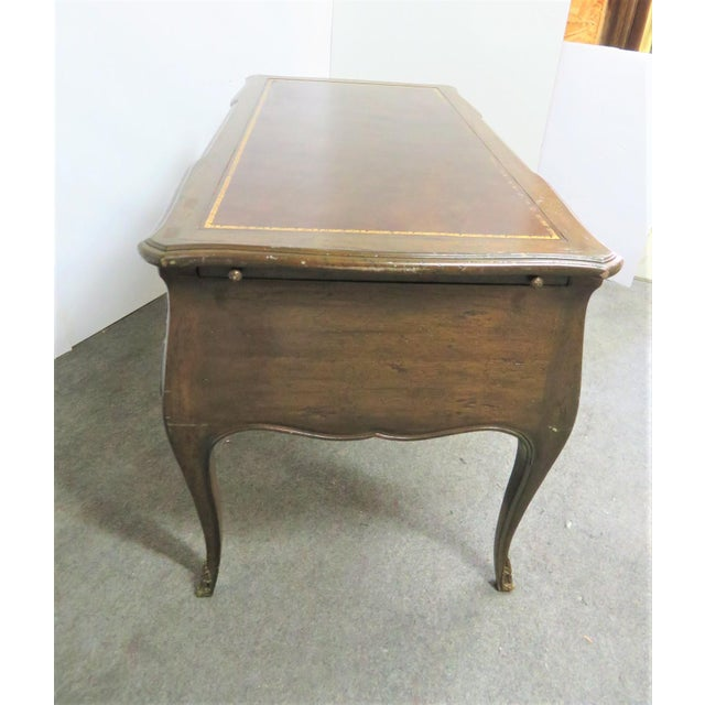 French Louis XV Leather Top Writing Desk For Sale - Image 3 of 9