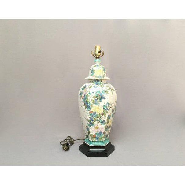 Paul Hanson Floral Porcelain Ginger Jar Lamp For Sale - Image 11 of 11